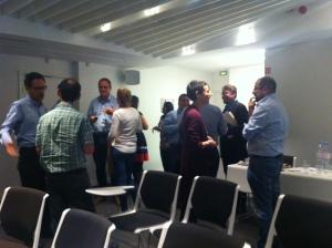 Delegates exchanging ideas